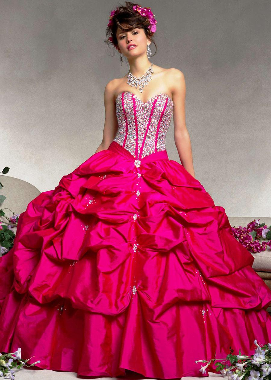 Vestidos-de-15-anos-largos-color-rosa-15 - Mis Felices XV