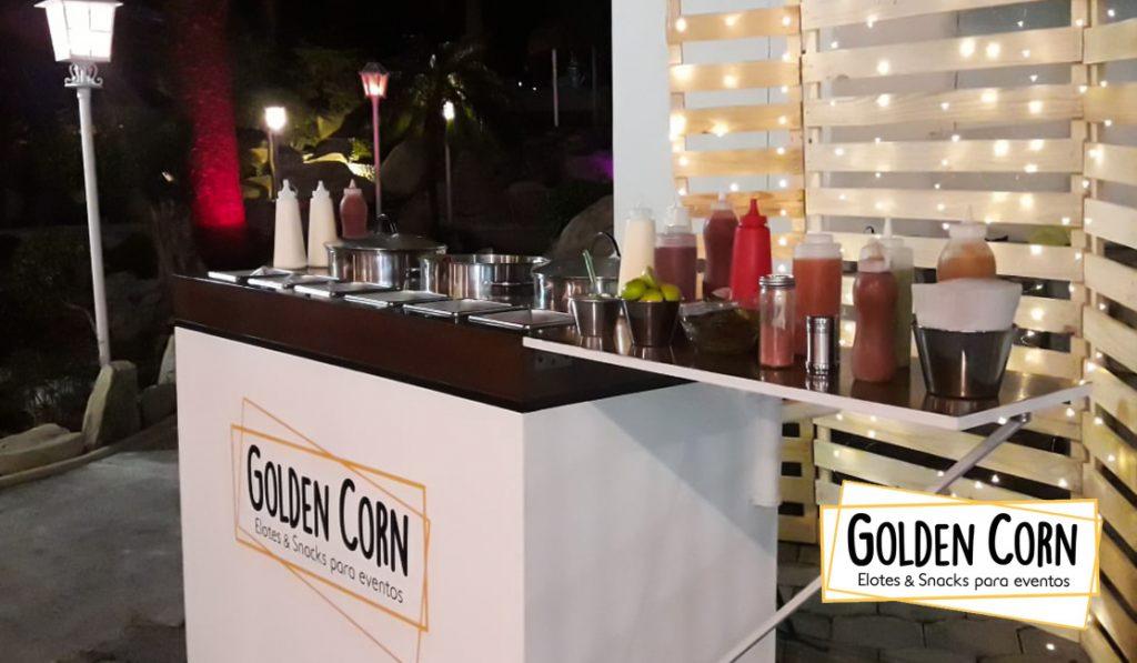 Carrito de elotes Golden Corn.